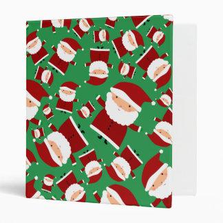 Green santa pattern binder