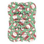 Green santa pattern invitation