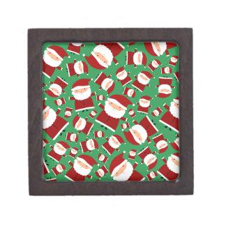 Green santa pattern premium jewelry boxes