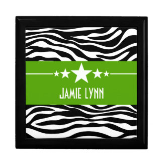 Green Sassy Star Zebra Gift Box