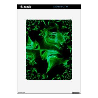 Green Satin fractal Skin For iPad