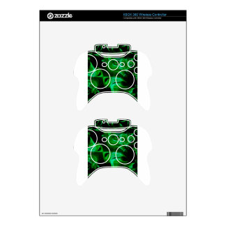 Green Satin fractal Xbox 360 Controller Skins