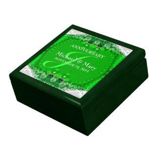 Green Satin Lace Wedding Anniversary Gift Box