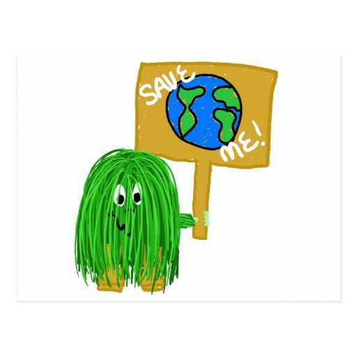 Green save me postcards