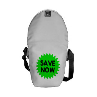 Green Save Now Courier Bag