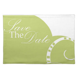 Green Save The Date American MoJo Placemats