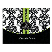 green Save the Date Postcard