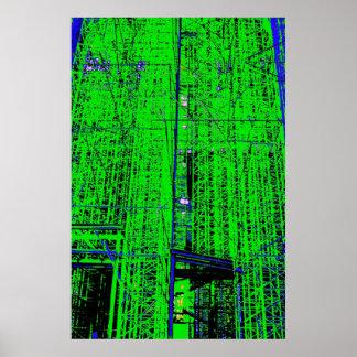 Green Scaffolding Poster