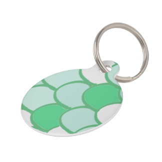 Green Scale Pet Tag