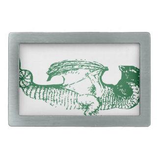 Green Scaled Dragon Belt Buckle