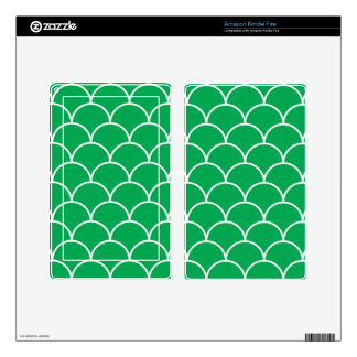 Green scales pattern kindle fire skin