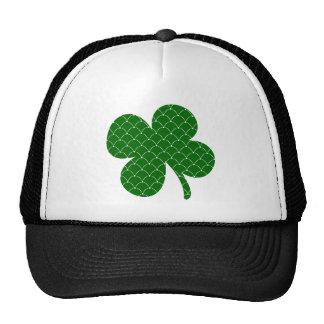 Green Scales Shamrock Trucker Hats