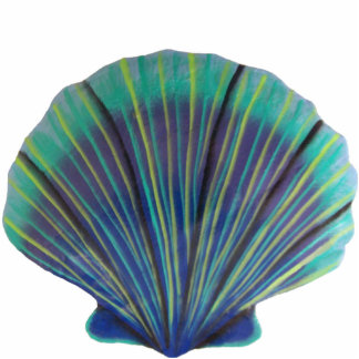 Green Scallop Shell Magnet