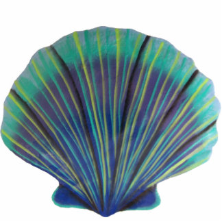 Green Scallop Shell Pin Statuette