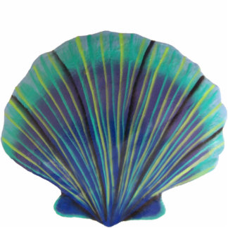 Green Scallop Shell Sculpture