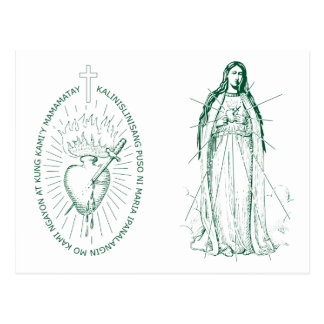 Green Scapular in Tagalog Post Card