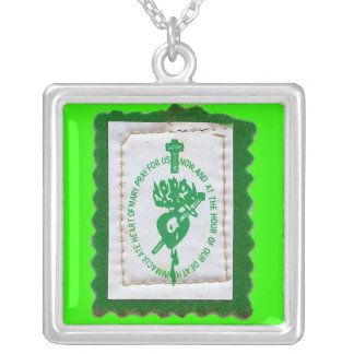 Green Scapular Necklace
