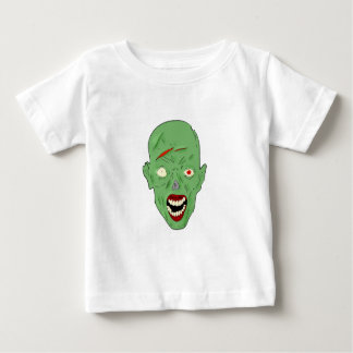 Green scarred zombie t-shirts