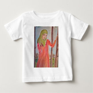 Green scarved girl, wild trees Muslim woman Baby T-Shirt
