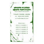 green scene grunge business card templates