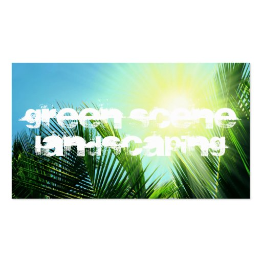 green scene landscaping business card