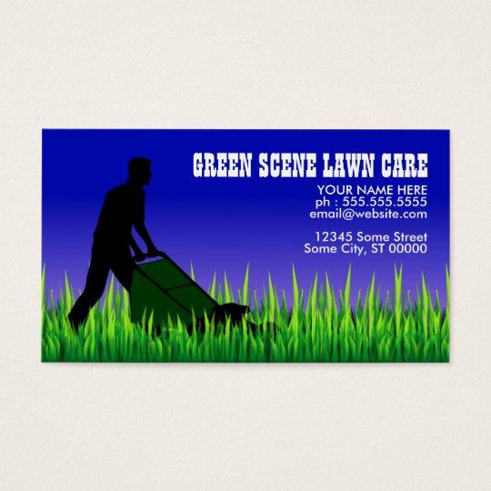 green scene lawn care business card