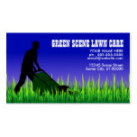 green scene lawn care business cards