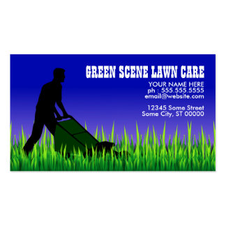 green scene lawn care Double-Sided standard business cards (Pack of 100)