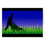 green scene lawn care greeting card