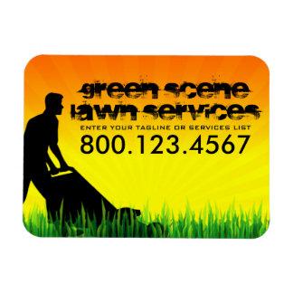 green scene lawn care magnet