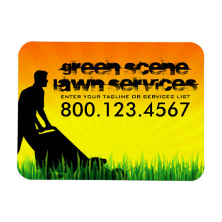 green scene lawn care magnet