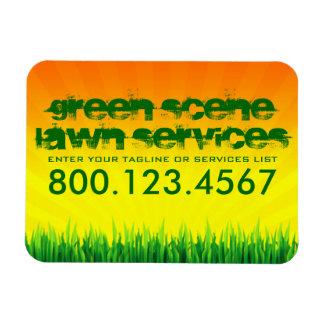 green scene lawn care rectangular photo magnet