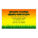 green scene lawn services Double-Sided standard business cards (Pack of 100)