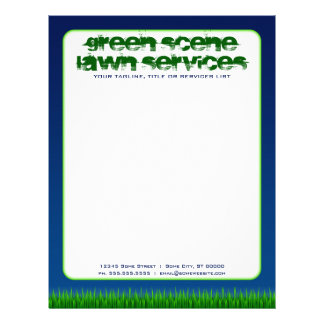 green scene lawn services custom letterhead