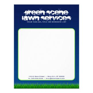 green scene lawn services personalized letterhead