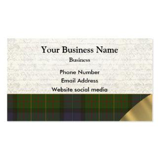 Green Scottish tartan plaid pattern Business Card Templates