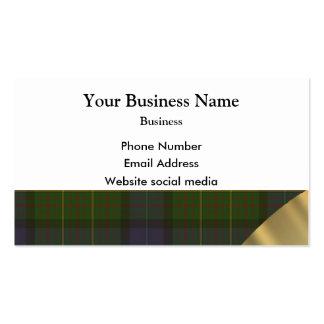 Green Scottish tartan plaid pattern Business Card Template