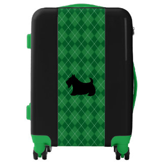 Green Scottish Terrier Suitcase Luggage Gift