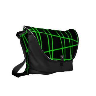 Green Scratch Messenger Bag