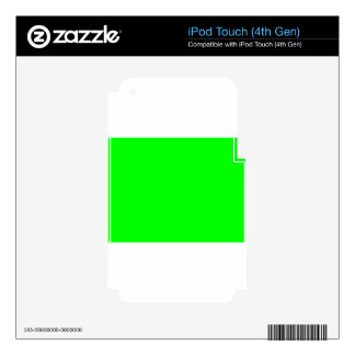 Green Screen Invisible Skins For iPod Touch 4G