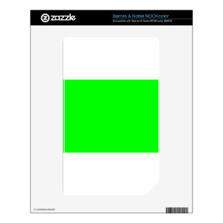 Green Screen Invisible Skin For NOOK Color