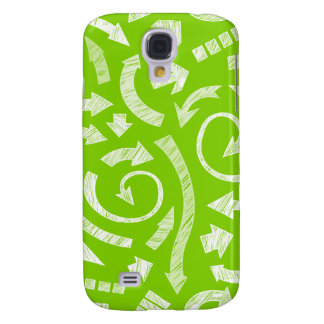 Green Scribbled arrows  Samsung Galaxy S4 Cover