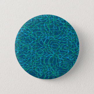 Green scribbled lines pattern pinback button