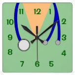 Green Scrubs and Stethoscope Clock 4 Veterinarians