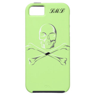 Green Scull Crossbow Monogramed I-Phone 5 Case