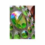 Green Scupture Mirrors Glass Photo Cutouts
