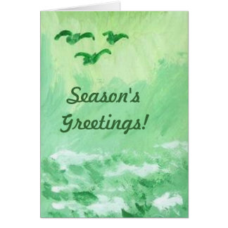 GREEN SEA CHRISTMAS GREETING CARD BY RAINEC