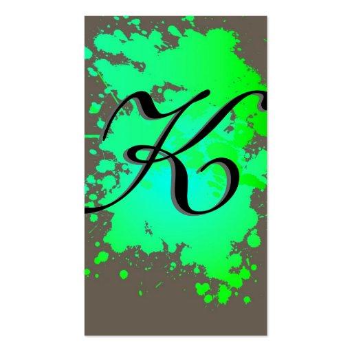 Green Sea Foam Ink Paint Splash Business Card