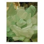 Green Sea Glass Flower Personalized Letterhead
