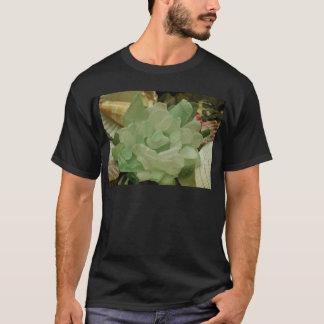 Green Sea Glass Flower T-Shirt